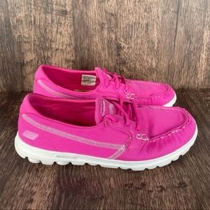 Skechers On the Go Hot Pink Boat Shoes Women's 8.5
